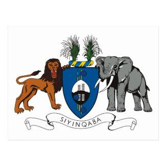 Swaziland Coat of Arms Postcard