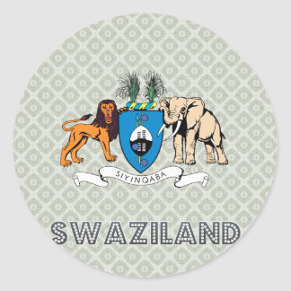 Swaziland Coat of Arms Round Sticker