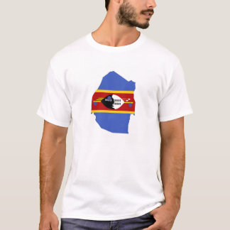 swaziland country flag map shape symbol T-Shirt