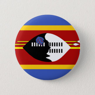 swaziland country long flag nation symbol 6 cm round badge