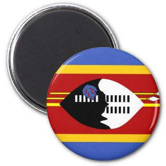 swaziland country long flag nation symbol 6 cm round magnet