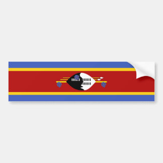 swaziland country long flag nation symbol bumper sticker