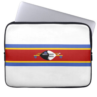swaziland country long flag nation symbol laptop sleeves
