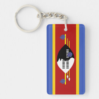 swaziland country long flag nation symbol Single-Sided rectangular acrylic key ring