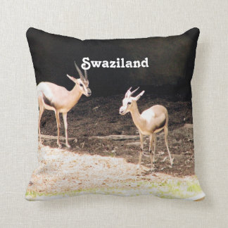Swaziland Throw Pillow