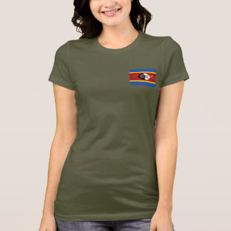 Swaziland Flag and Map dk T-Shirt