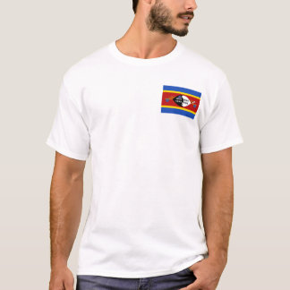 Swaziland Flag and Map T-Shirt