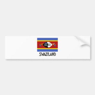 Swaziland Flag Bumper Sticker
