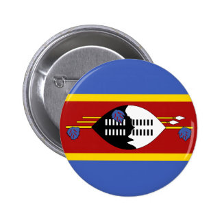 Swaziland Flag Button