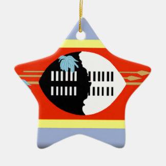 Swaziland Flag Ceramic Star Decoration