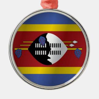 Swaziland flag christmas ornament
