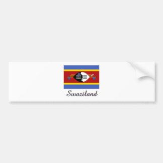Swaziland Flag Design Bumper Sticker