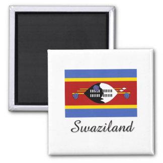 Swaziland Flag Design Square Magnet
