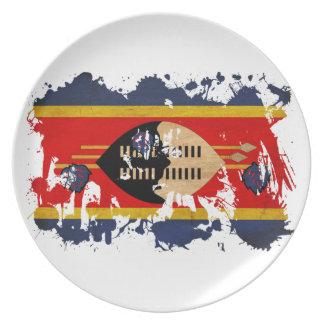 Swaziland Flag Dinner Plate