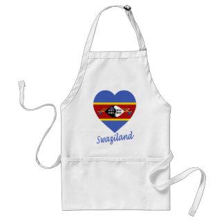 Swaziland Flag Heart Standard Apron