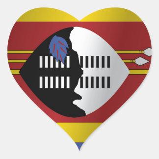 Swaziland flag heart sticker