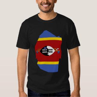 Swaziland Flag Map Tee Shirt