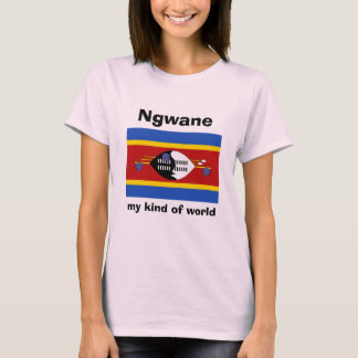 Swaziland Flag + Map + Text T-Shirt