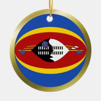 Swaziland Flag Ornament