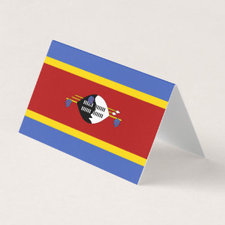 Swaziland Flag Place Card