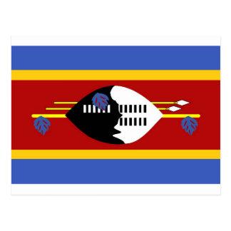 Swaziland flag postcard