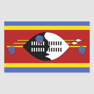 Swaziland Flag Rectangular Sticker