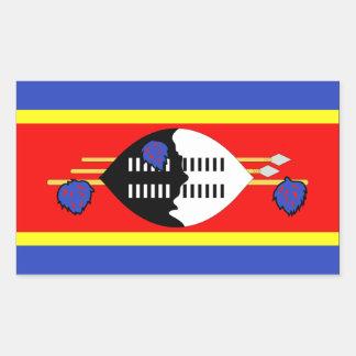 Swaziland Flag Rectangular Sticker