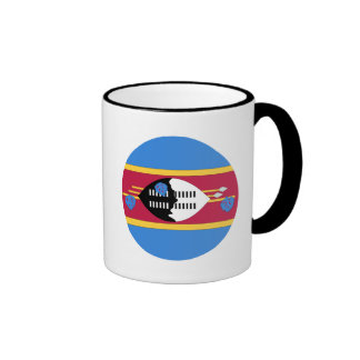 Swaziland Flag Ringer Mug