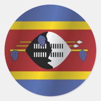 Swaziland flag round sticker