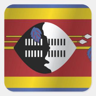 Swaziland flag square sticker