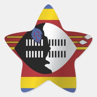 Swaziland flag star sticker