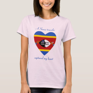 Swaziland Flag Sweetheart T-Shirt