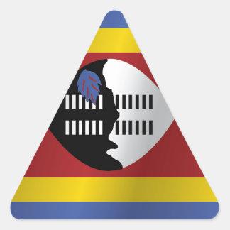 Swaziland flag triangle sticker