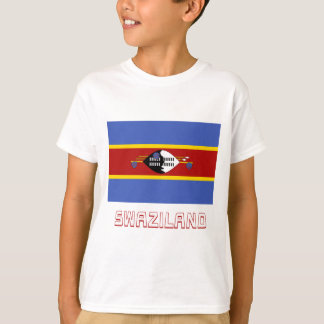 Swaziland Flag with Name T-Shirt