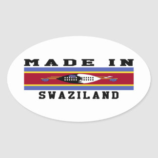 Swaziland Made In Designs Oval Sticker