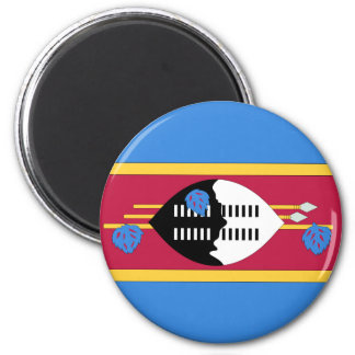 Swaziland 6 Cm Round Magnet