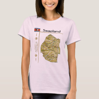 Swaziland Map + Flag + Title T-Shirt