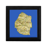 Swaziland Map Gift Box