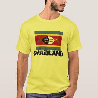 SWAZILAND* Men's Custom Flag T-shirt