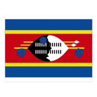 Swaziland National Flag Postcard