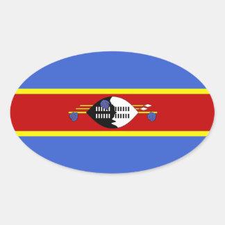 SWAZILAND OVAL STICKER