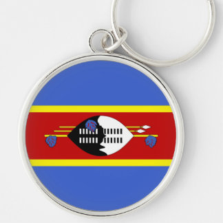 SWAZILAND Silver-Colored ROUND KEY RING