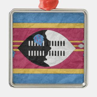 Swaziland Silver-Colored Square Decoration