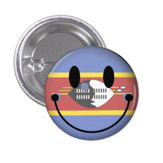 Swaziland Smiley Pinback Buttons