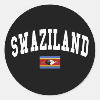 Swaziland Style Round Sticker