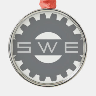 SWE (Society of Women Engineers) Grey Ornament