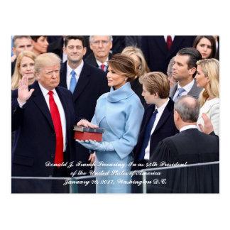 Swearing-In of 45th President Donald Trump Postcard