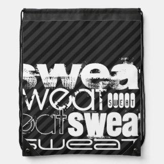 Sweat; Black & Dark Gray Stripes Rucksacks