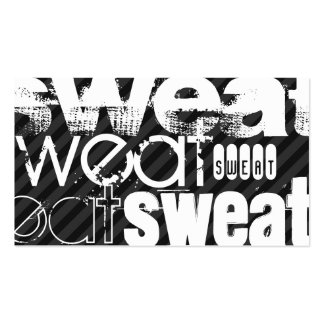 Sweat; Black & Dark Gray Stripes Pack Of Standard Business Cards