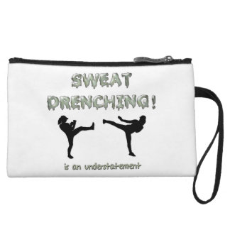 Sweat Drenching Kickboxing! is an understatement Wristlet Clutches